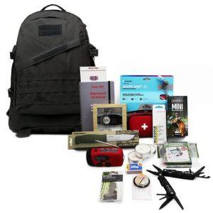 Färdigpackad Bug Out Bag för stad
