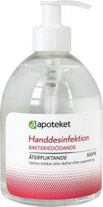 Apoteket handdesinfektion 70 % 500 ml