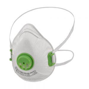Andningsskydd FFP3 med grön ventil