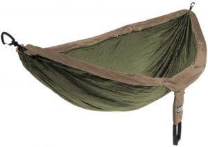 Olivgrön hammock för två personer