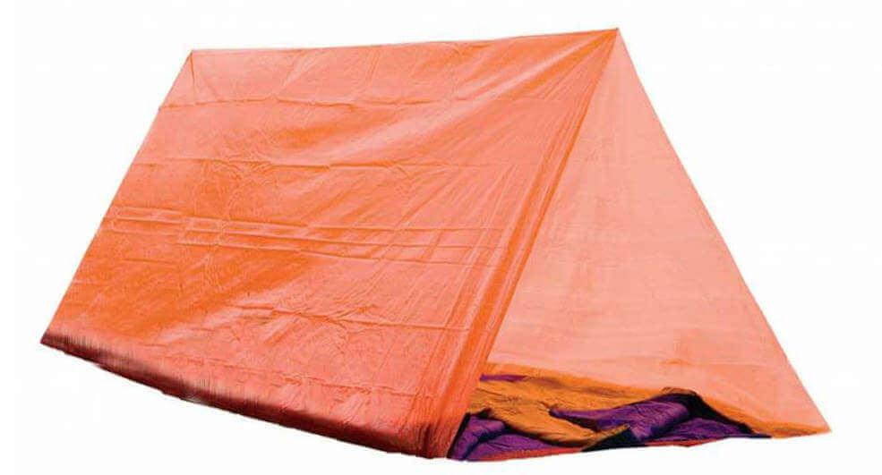 Nödtält / tarp med orange färg